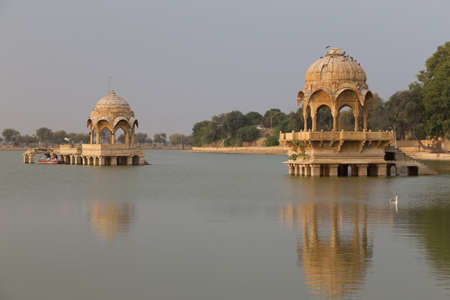 The Gadisar Lake in the city of Jaisalmer is one of the primary tourist attractions of the region. It is originally conceived as a water conservation tank to fulfil the water requirements of this acrid city by the then maharaja of Jaisalmer, Maharwal Gadsi Singh, around the year 1400 AD.