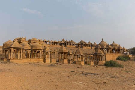 This photo was shot from Bada Bagh which is a garden complex about 6 km north of Jaisalmer in the state of Rajasthan in India. It contains a set of royal cenotaphs.
