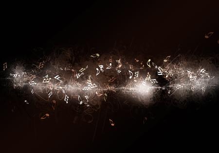 Abstracte donkere muziek achtergrond