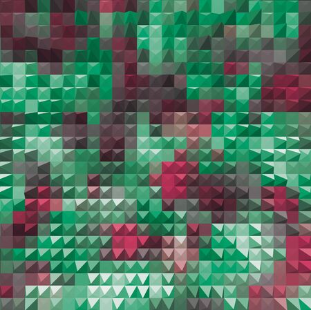 mosaic background: red green mosaic party background pyramids illustration Stock Photo