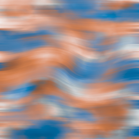 contortion: blue orange waves background illustration Stock Photo