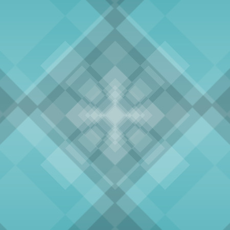 tunnel vision: sea green diamond background with deep squares illustration Stock Photo