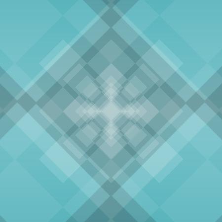 profundity: sea green diamond background with deep squares illustration Stock Photo