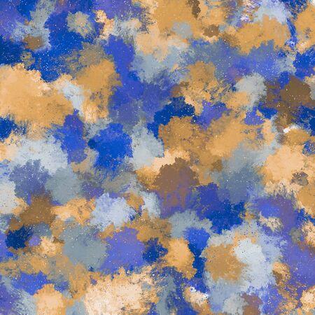 dark blue orange background splatter illustration