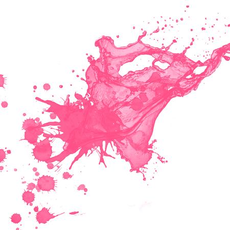 pink paint splash background