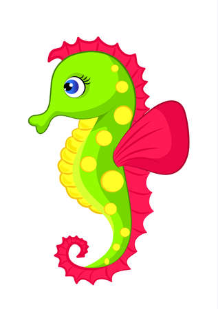 Illustration of colorful seahorse
