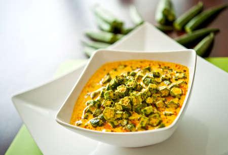 garnish: North Indian Dish of Okra