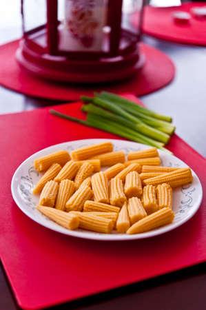 baby corn: Baby Corn in a dish