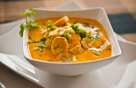 indian food: Rajasthani Gatta curry in yogurt Stock Photo