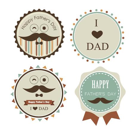 hart: Love dad label Illustration