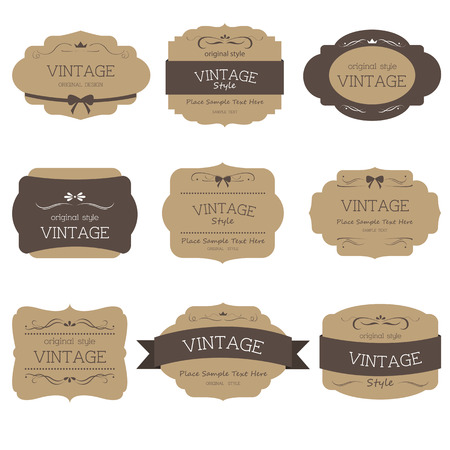 vintage texture: Set of label style vintage