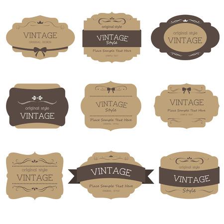 Set van label stijl vintage