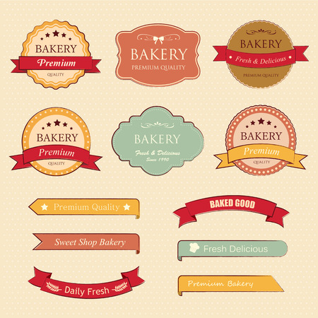 bakery label and tag Vector