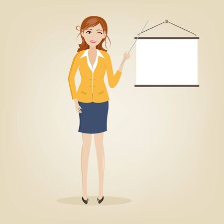 charactor: set of businesswoman charactor
