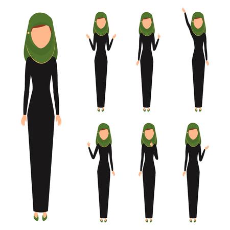 Arab business woman character.