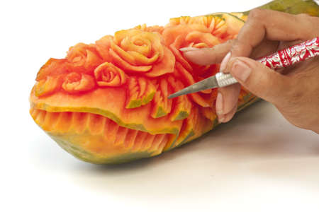 Fruit carved photo