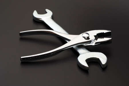 Tool on a black background photo