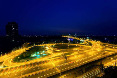 nonthaburi: Nonthaburi bridge in Bangkok Thailand road for transportation