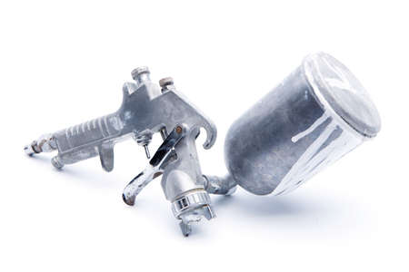 HVLP spray gun high volume low pressure. Stock Photo
