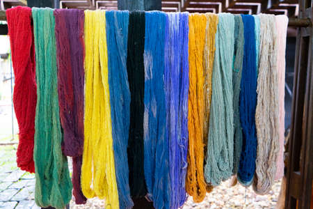 Close up of cotton dye is made from natural ingredients Stock fotó