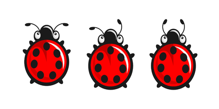 Cute Ladybugs - three different tentacles