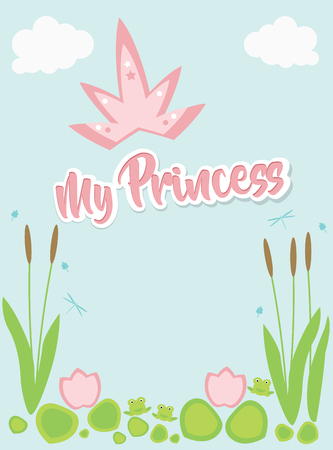 My Princess, text above swamp plants, pink heading.