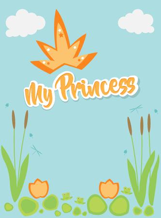 My Princess, text above swamp plants, orange heading. Ilustração