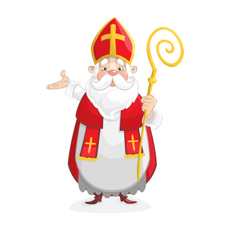 Cute Saint Nicholas cartoon character - Sinterklaas