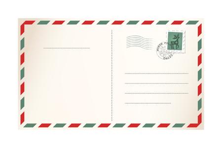 Brief für den Weihnachtsmann - Vorlage Postkarte