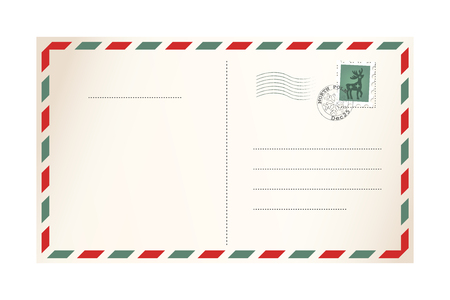 Letter for Santa Claus - template postcard 矢量图像