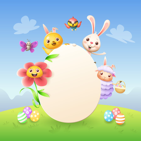 template of easter bunny