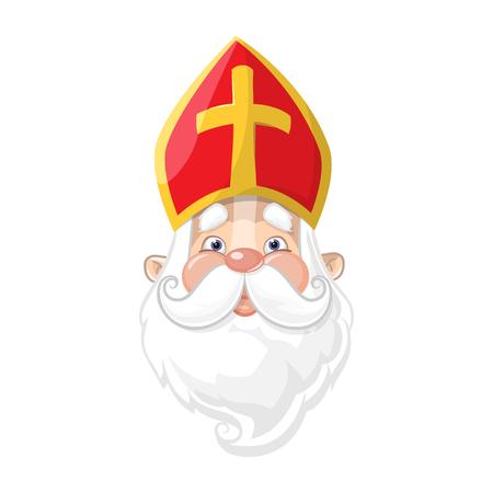 Saint Nicholas - cute cartoon character portrait Illustration