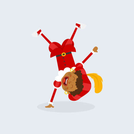 Happy and cute kid celebrate Sinterklaas day