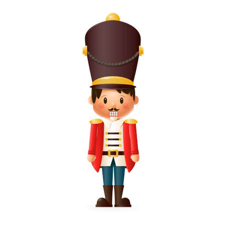 Cute Nutcracker isolated on transparent background