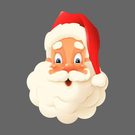 Happy Santa Claus isolated - expression face vector illustration