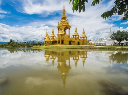 Golden Building at Wat Rong Khun (White Temple), Chiang Rai, Thailand