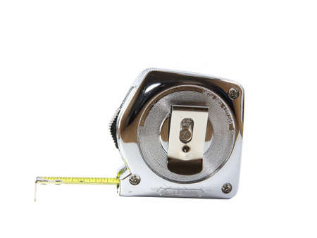 Steel tape measure Stock Photo