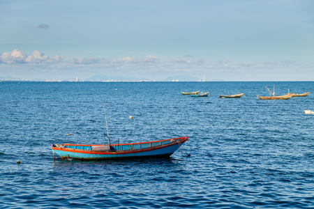 Fishing boats on the sea Stock Photo