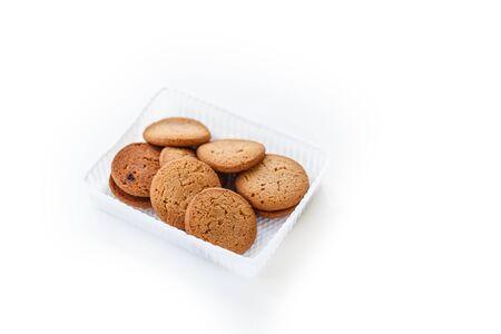 indulgence: cookie on white background