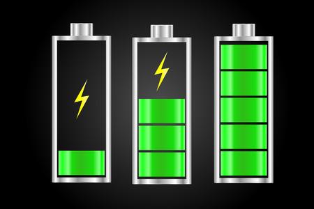 バッテリー充電ステータス アイコン イラスト  イラスト・ベクター素材