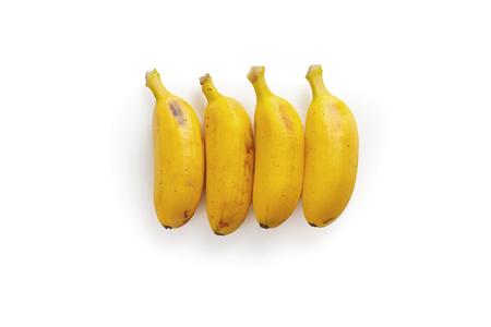 Thai banana fruit on a white background