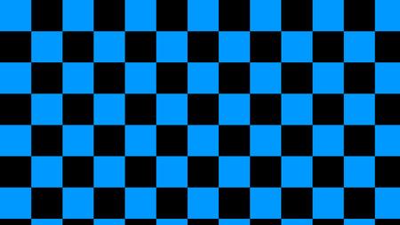 checkered sea & black squares light sea and deep black seamless pattern Standard-Bild