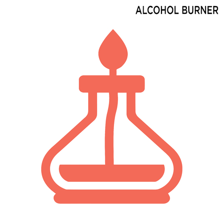Alcohol burner icon isolated on white background Vectores