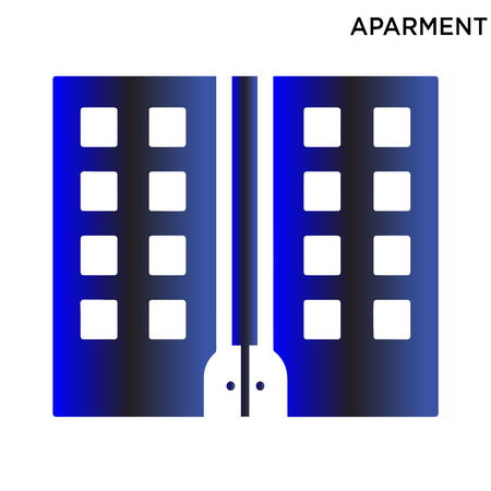 Aparment icon symbol design isolated on white background