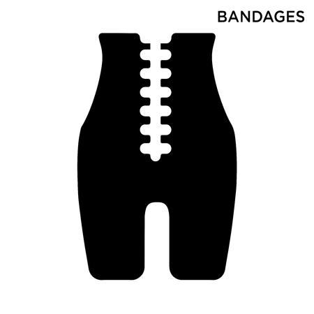 Bandages icon white background simple element illustration fashion concept Illustration