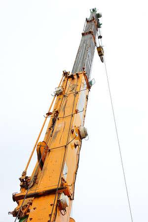 upraise: Yellow crane  Stock Photo