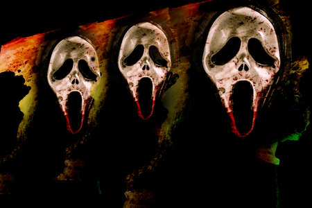 nightmare with mask screaming  photo