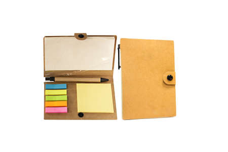 Brown notebook photo