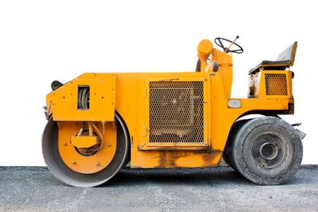 steamroller: steamroller yellow