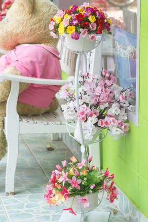 relent: Decorative arrangement beautiful flowers Stock Photo